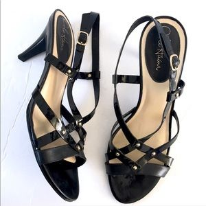 Cole Haan Nike Air sling backs patent leather heel